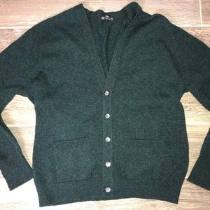 Vintage ST MICHAEL Lambswool Cardigan Sweater NOS